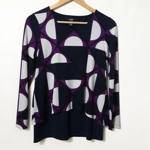 Alfani Layered Look S/P Top/Blouse EUC!